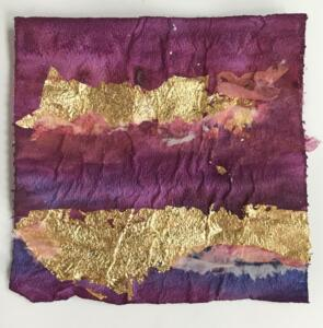 Gilded Toilet Paper Square