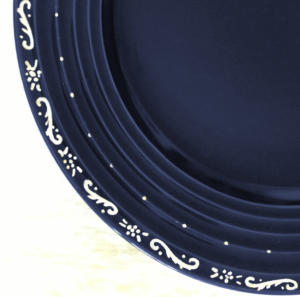 Hand painted plates for reception