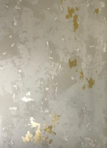 Gold And Plaster powder room for Hattas Public Murals