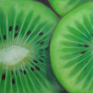 "Kiwi  Acrylic on Canvas  28"" x 28"""