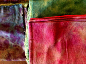 Hand dyed linen napkins
