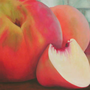 "White Peaches  Acrylic on Canvas  30"" x 30"""